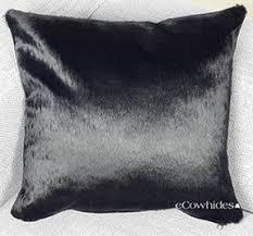 Metallic Cowhide Pillow Cowhide Pillows Zebra Leopard Ecowhides Com