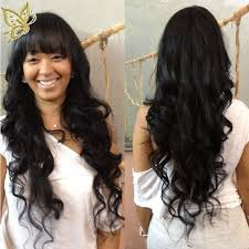 body wave hair with bangs indian remy hair full bangs new body wave glueless silk top non