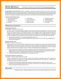 Example Warehouse Resume Warehouse Manager Resumes Warehouse Manager Cover Letter