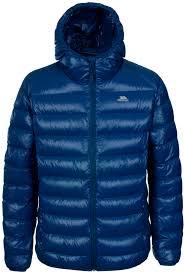 trespass ramirez mens hooded winter down jacket lightweight warm