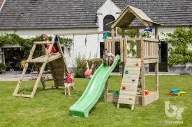blue rabbit pagoda wooden climbing frame tower garden toy store