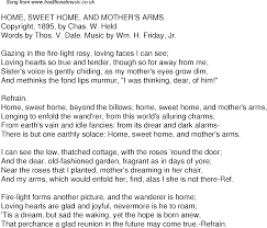 sweet home theater old time song lyrics for 50 home sweet home and mothers arms