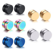 black earrings for men black magnetic earrings men ebay