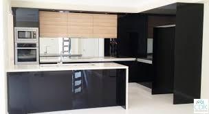 Black Gloss Kitchen Cabinets Kitchen Black And White Kitchen Backsplash Ideas Black And White