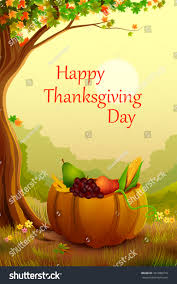 vector illustration happy thanksgiving wallpaper background stock