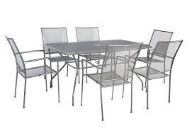 Outdoor Mesh Furniture by Bentley Grey Metal Mesh Garden Furniture Set 7 Pieces