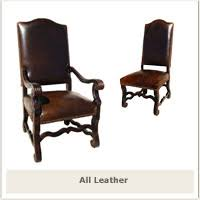 Leather Dining Armchair Dining Chairs Tuscan Hacienda Style Dining Chairs Tuscan Style