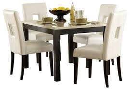 homelegance archstone 48 inch dining table with faux marble top