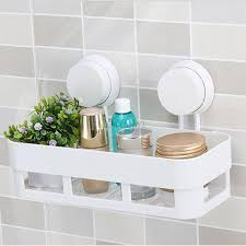 Bathroom Suction Shelves Home Bathroom Corner Shelf Suction Rack Organizer Cup Storage