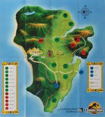 Jurassic Park Map Jurassic Park Brochure