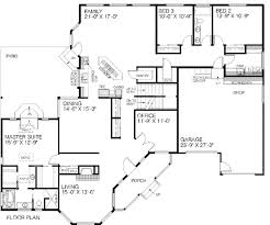traditional style house plan 4 beds 2 00 baths 2500 sq ft plan