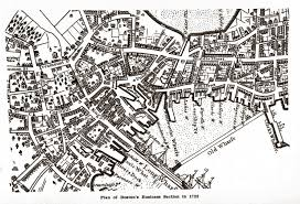 Boston Street Map by Antique Map Of Boston 1722