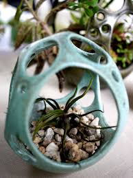 Hanging Ceramic Planter With Succulents By Kamspots Markets Of