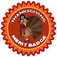 merit badge thanksgiving cat scouts