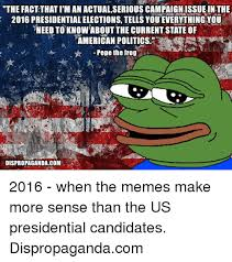 Fact Frog Meme - the fact thati man actualserious caign issue inthe 2016