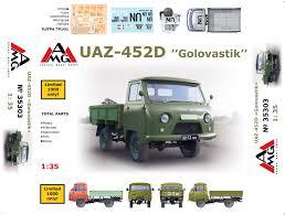 uaz 452 uaz 452 golovastyk army l cargo truck 1 35