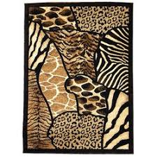 donnieann company animal skin prints patchwork design brown area