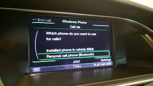 2015 audi a6 mmi dual sim reciving calls into the car not the