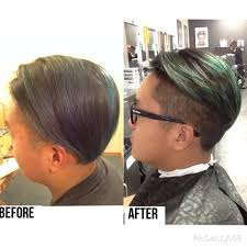 before and after men u0027s 90 degree haircut with shaved sides