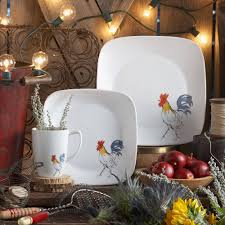 Corelle 76 Piece Dinnerware Set Corelle 32 Piece Squares Country Dawn Dinnerware Set Walmart Com