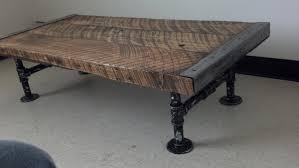customizable industrial coffee table old barnwood distressed