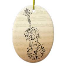 drawings of violins christmas tree decorations u0026 baubles zazzle