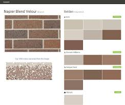 napier blend velour brown face brick belden behr sherwin