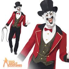 Circus Halloween Costumes Sinister Zombie Ringmaster Costume Mens Circus Halloween
