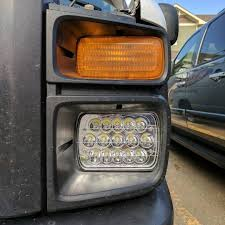 Cyron Led Light Strips by 7x6 Led Headlights Hid Light Bulbs Crystal Clear Sealed Beam