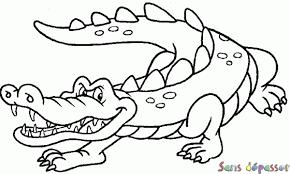 Coloriage Crocodile  Sans Dépasser
