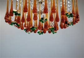 Glass Fruit Chandelier by Vintage Teardrop And Fruit Murano Glass Chandelier For Sale At Pamono
