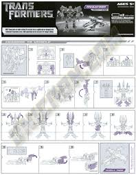transformers movie megatron transformers instructions database