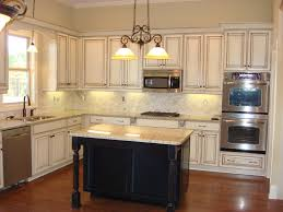 Distressed Kitchen Cabinets Best White Distressed Kitchen Cabinets With Hanging Ls 9769