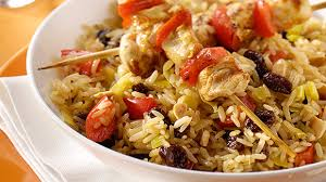 cuisiner le riz basmati brochettes de poulet aux épices et riz parfumé knorr
