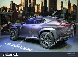 lexus ux suv concept paris lexus ux crossover concept car displayed stock photo 494792989
