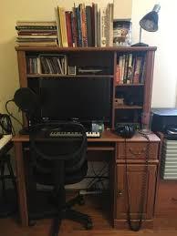 Desktop Computer Desk Sauder Orchard Hills Computer Desk With Hutch Carolina Oak Finish