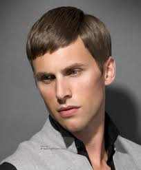 traditional men u0027s haircut with rounded cutting lines and a side part