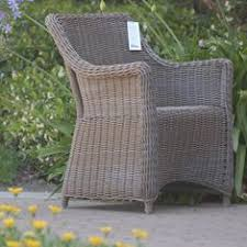 Grey Wicker Patio Furniture - wicker outdoor dining chair