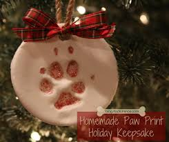 radiofence paw print ornament keepsake