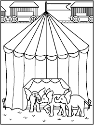 circus coloring pages u2013 birthday printable