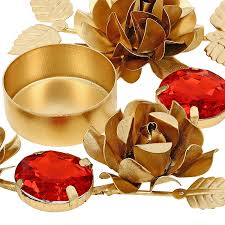 buy golden red designer diyas diwali decorations candle light