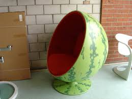 watermelon coloured ball chair who buys this stuff