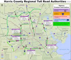 harris county toll road map map of harris county houston area toll roads free for