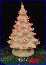 light up christmas skirt 1960s mod howell s mold ceramic light up christmas tree doves skirt