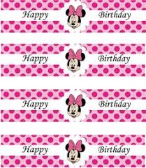 minnie mouse pink printable napkin wrappers labels diy juju