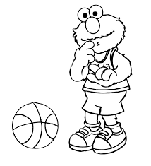 elmo confused ball coloring pages coloring pages