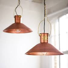 Farmhouse Kitchen Lights by Home Decor Hammered Copper Pendant Light Industrial Looking