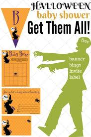 halloween baby shower invitations games u0026 decorations print my