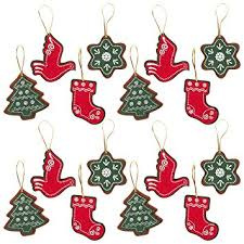 felt ornaments juvale pack of 16 felt ornament set includes