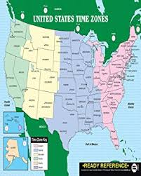 us time zone using area code america laminated gloss color time zone